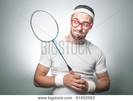 Funny Tennis Player