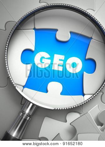 GEO - Missing Puzzle Piece through Magnifier.