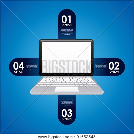 Technology design over background vector illustration