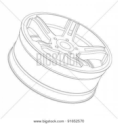Contour Of An Automobile Cast Disk