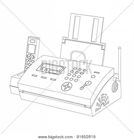 Fax Contour On A White Background