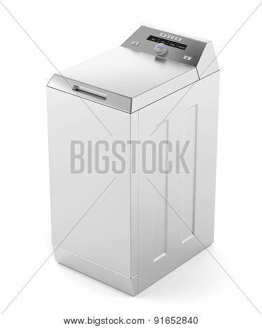Silver Top Load Washing Machine