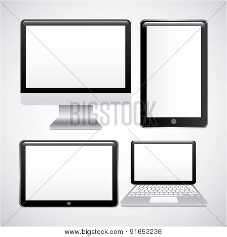 Technology design over gray background vector illustration