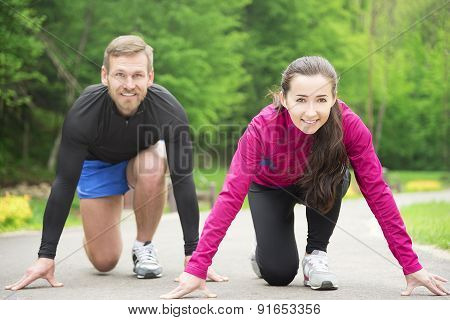 Couple In Starting Position