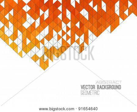 Abstract color triangles poster.