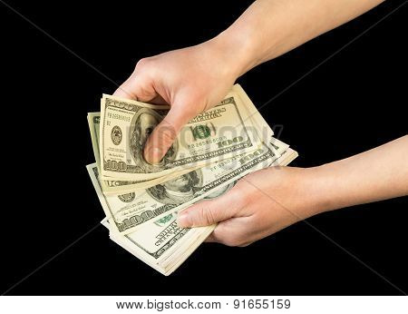 Money in human hands