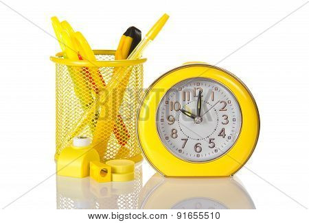 Clock sharpener and a puncher