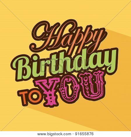 Birthday design over yellow background vector illustration