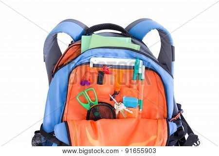 Orange And Blue Kids School Backpack