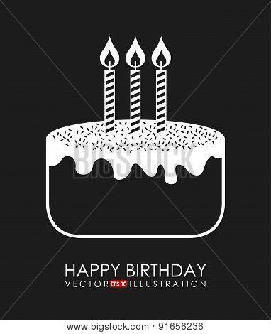 Birthday design over black background vector illustration