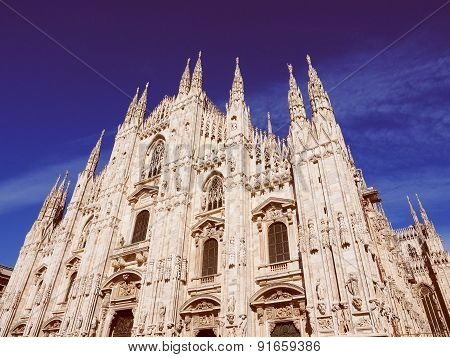 Retro Look Milan Cathedral