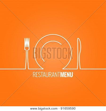 plate fork knife design background