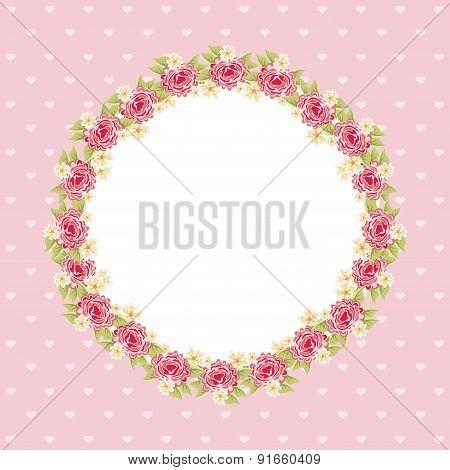 Flowers design over pink background vector illustration