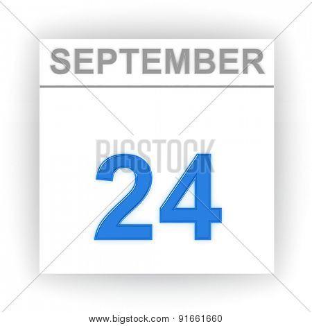 September 24. Day on the calendar. 3d