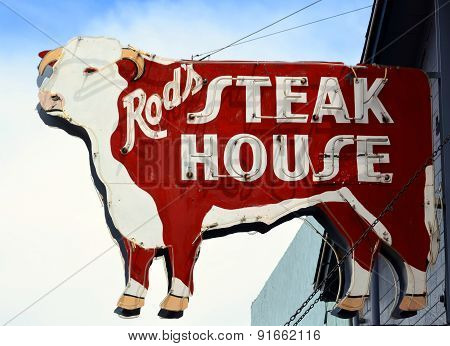 steak house sign