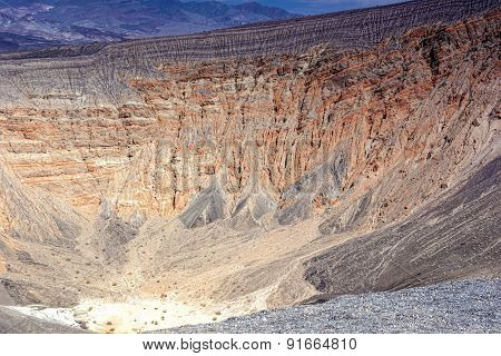 Geological Formations In Ubehebe Volcano In Death Valley National Park. The Largest And Youngest Vol