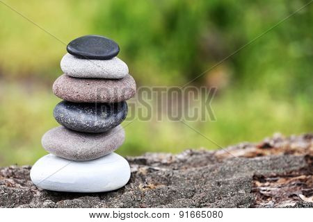 Zen stones balance spa outdoors