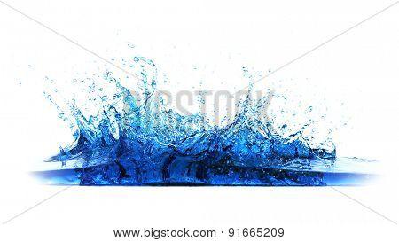Water splash on light background