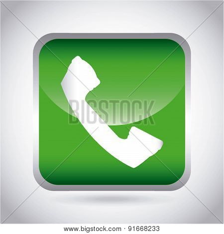 Telephone design over gray  background vector illustration