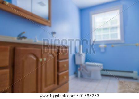 Bathroom blurred interior