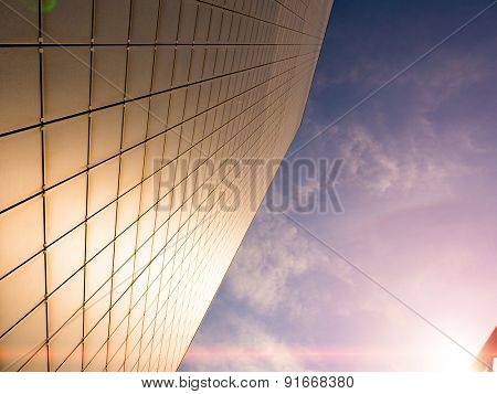 Abstract skyscraper wall