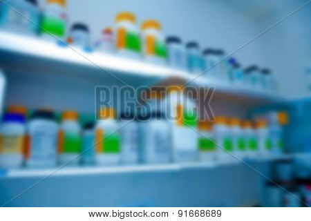 Biological laboratory. blurred background
