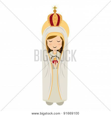 Holy Mary design over white background vector illustration