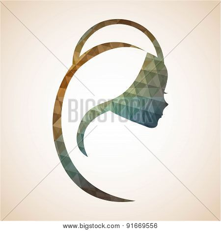 Holy Mary design over beige background vector illustration