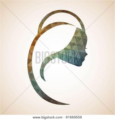 Holy Mary design over beige background vector illustration
