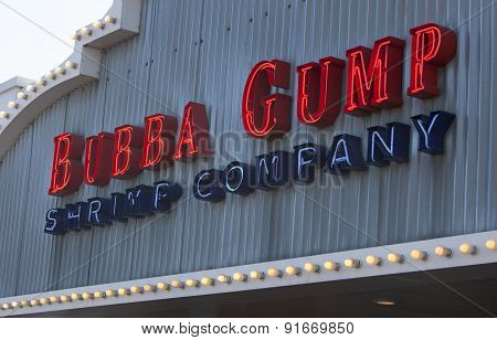 Bubba Gump Shrimp Company Entrance Sign