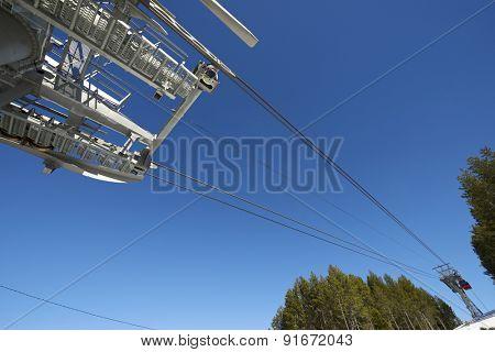 Cable car at a ski resort in Andorra.