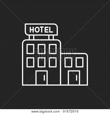 Hotel Line Icon