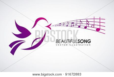 Bird design over gray background vector illustration