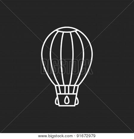 Hot Air Balloon Line Icon