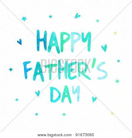 Elegant greeting card design for Happy Father's Day celebrations with shiny text.