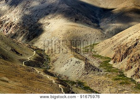 Aerial View Of Ladakh Landscape, Himalayan Mountains, India
