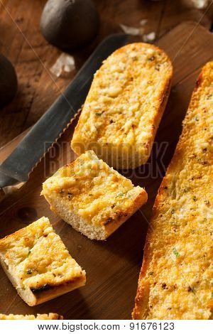 Homemade Cheesy Garlic Bread