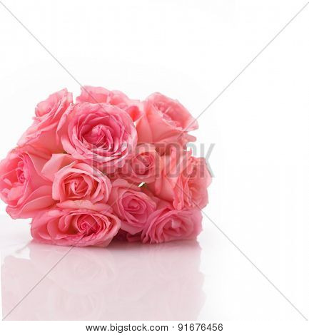 Lying down bouquet rose