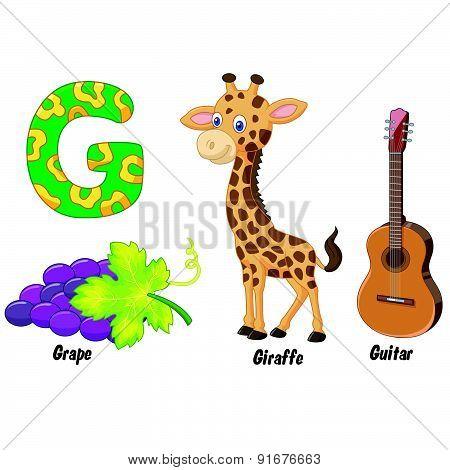 Cartoon G alphabet