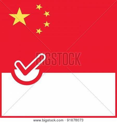 Voting Symbol China Flag