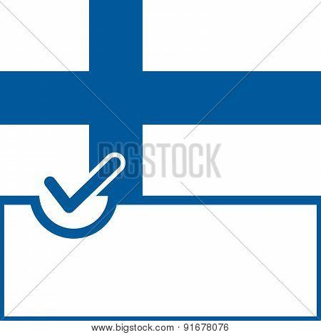 Voting Symbol Finland Flag