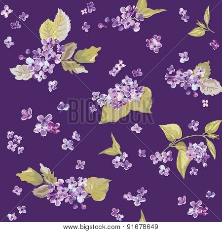 Spring Flowers Backgrounds - Seamless Floral Shabby Chic Pattern - in vector