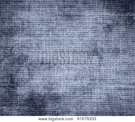 Grunge background of cool grey burlap texture