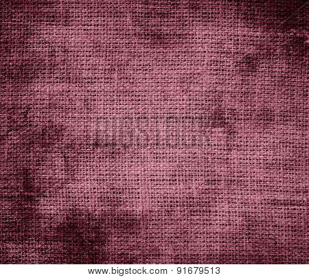 Grunge background of copper rose burlap texture