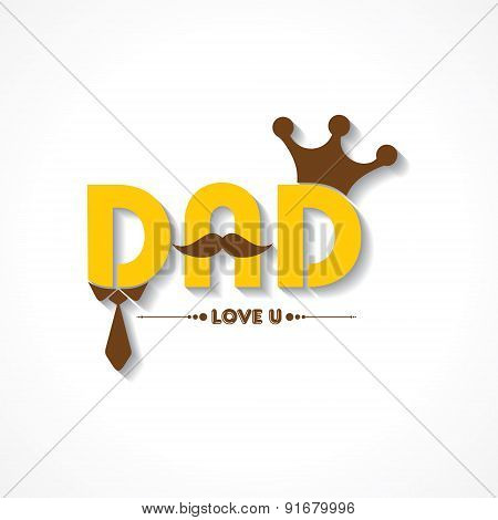 Stylish  Happy Father's Day Greeting stock vector