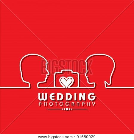 Wedding Photography Concept stock vector