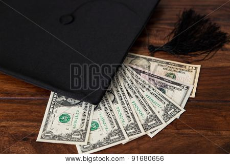 Mortar Board And Dollar