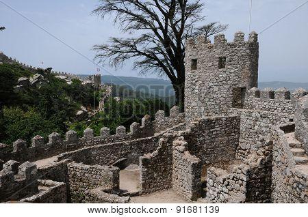 Portugal, The Moorish Castle In Sintra