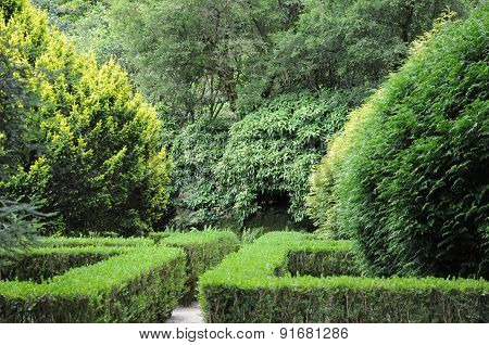 Portugal, Garden Of Pena National Palace In Sintra