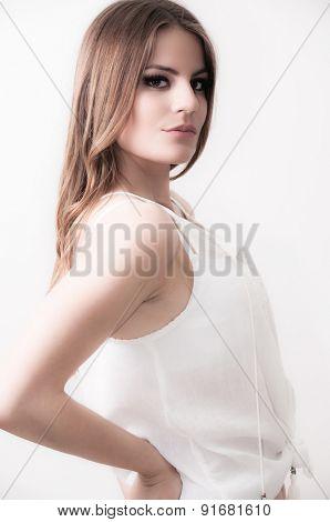 Beautiful teenage girl posing